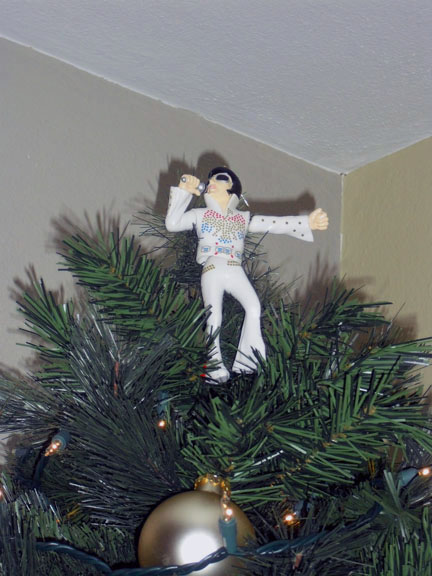 (Yes we did have Elvis as our tree topper last year and we very well may do  it again. Elvis is the King.) - Living Analog Page 35