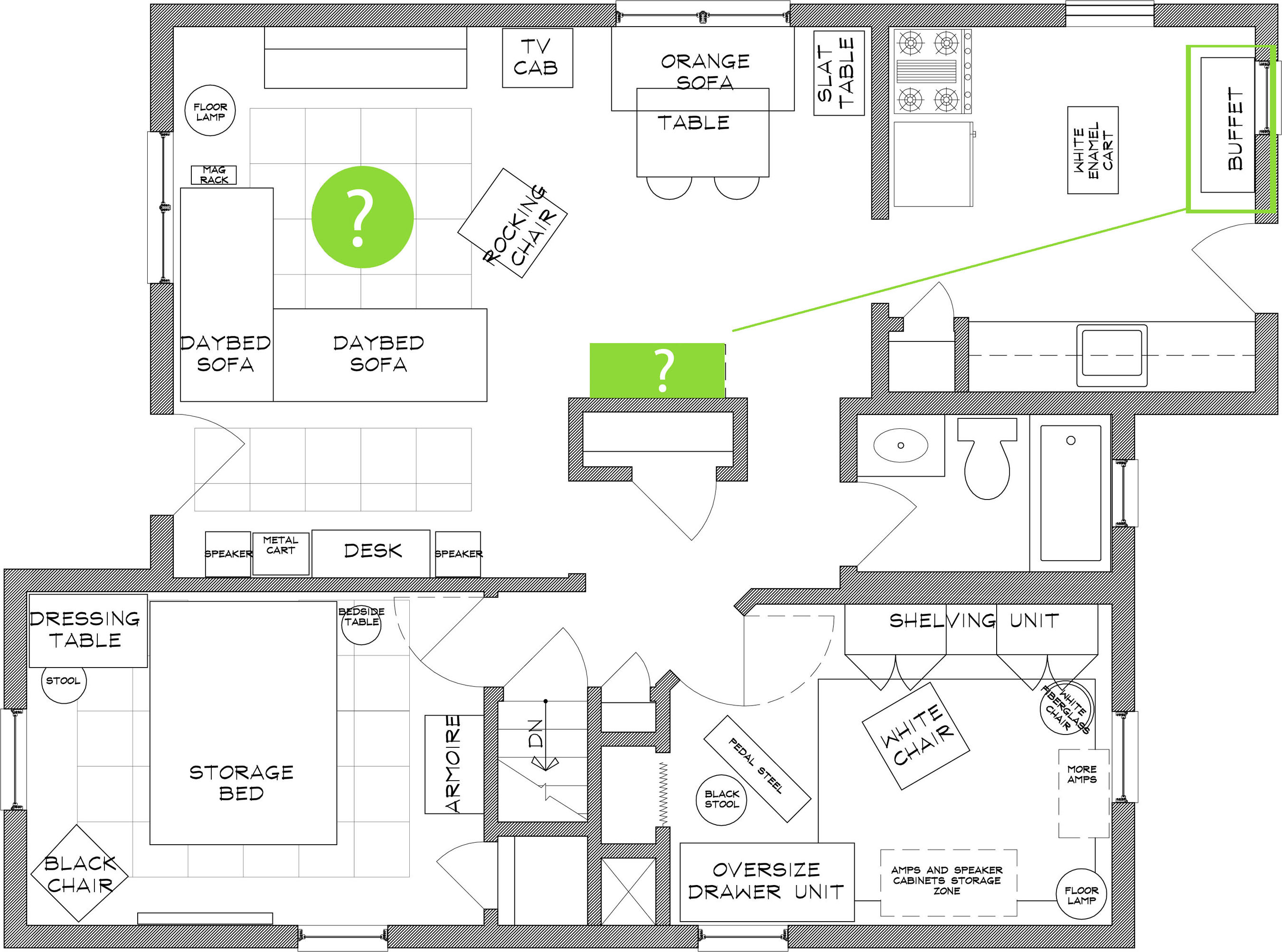 Autocad floor plan living analog for Cad floor plans