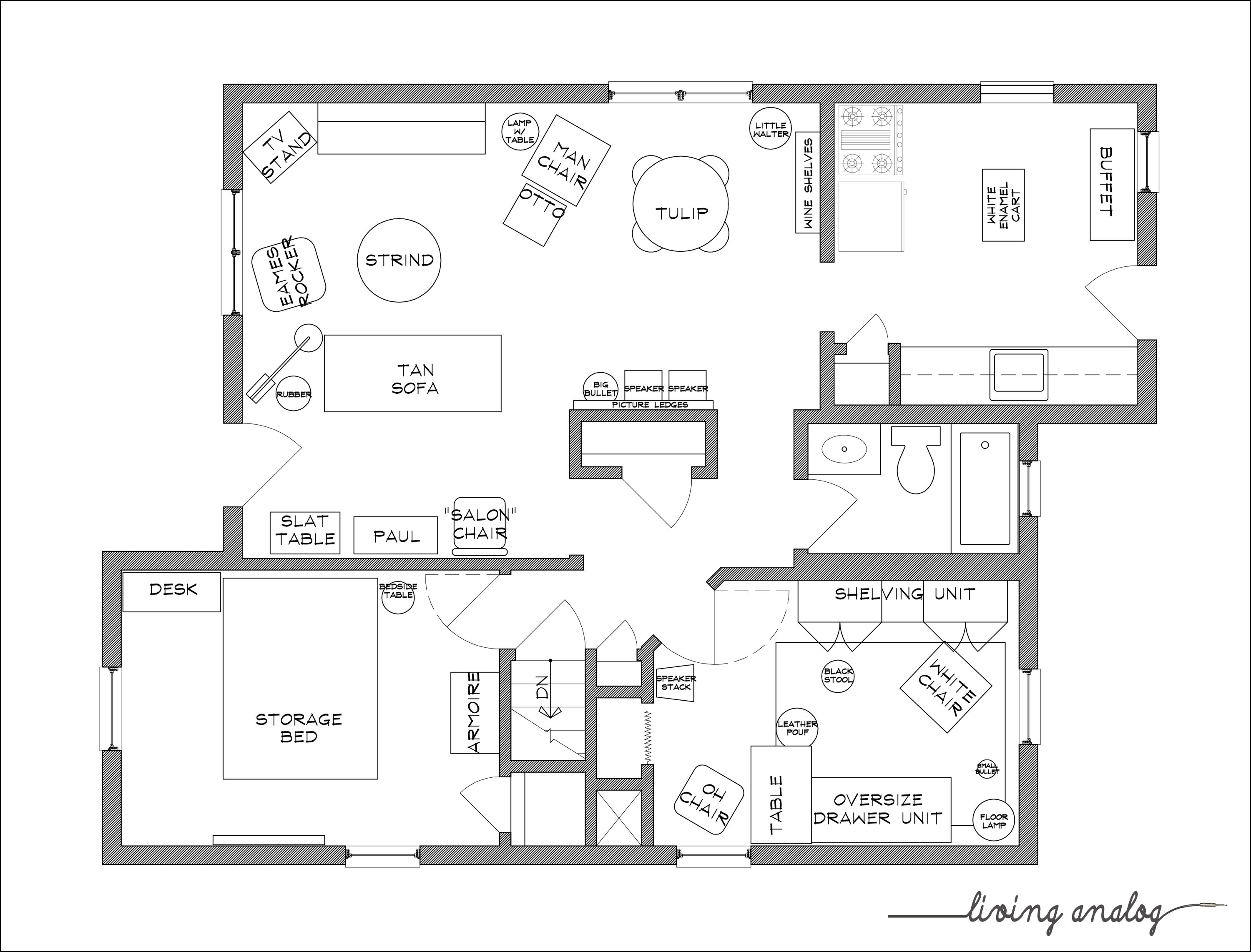 Download free printable furniture templates for floor for Floor plan blueprints free