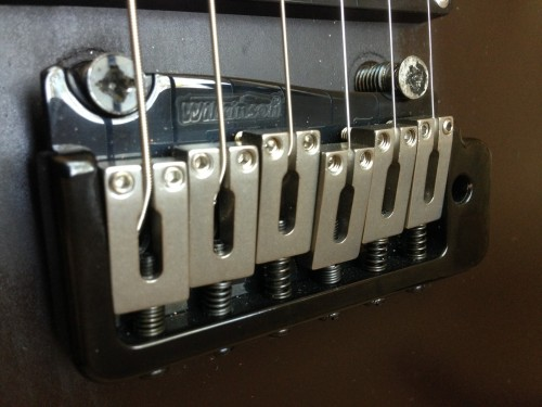 Wilkinson tremolo mounted on original Kahler mounts